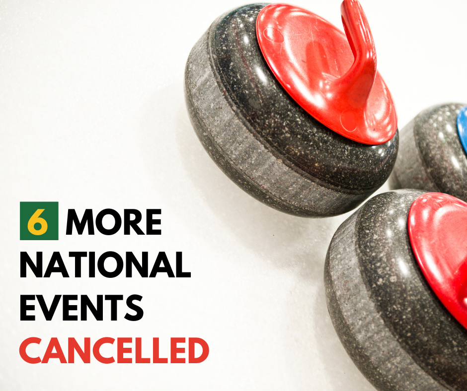 PANDEMIC FORCES CANCELLATION OF MORE CURLING CANADA EVENTS
